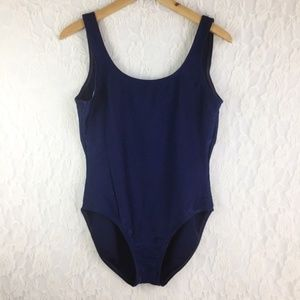 Vintage Swimsuit One Piece Blue Low Back Catalina